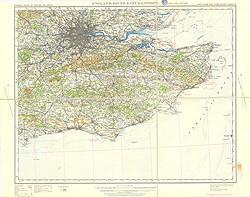 Ordnance Survey of England and Wales, Civil Air edition (Sheet 12), England, South East and London